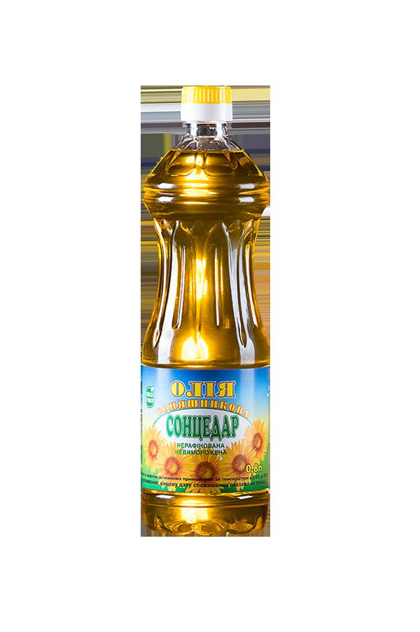 Sontsedar Unrefined Unfrozen First grade Sunflower Oil 0.8 litres