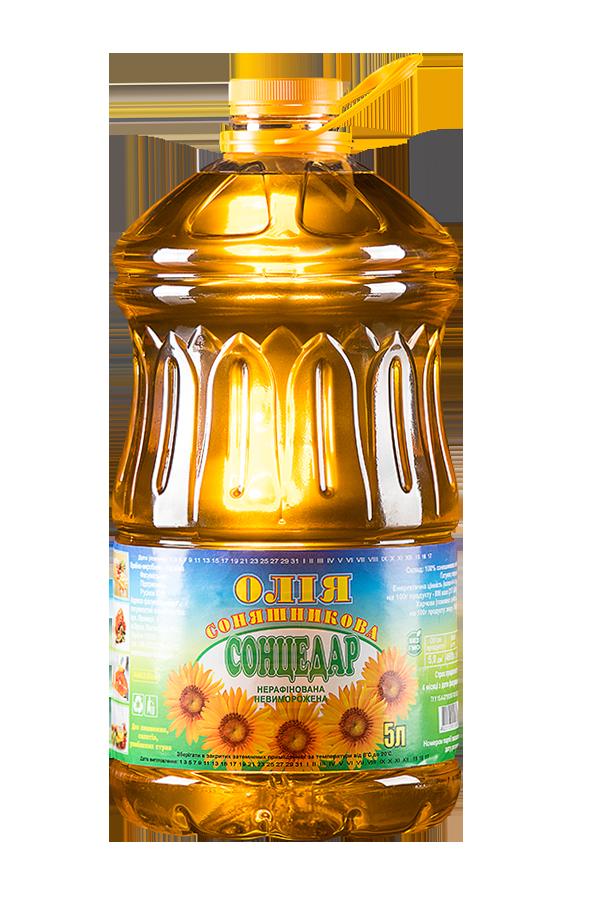 Sontsedar Unrefined Unfrozen First grade Sunflower Oil 5 litres